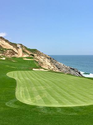 Golf course next to the ocean